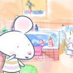 Myszka w paski - Jak brać prysznic