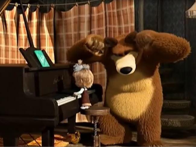 Masza i Niedźwiedź – Próba orkiestry